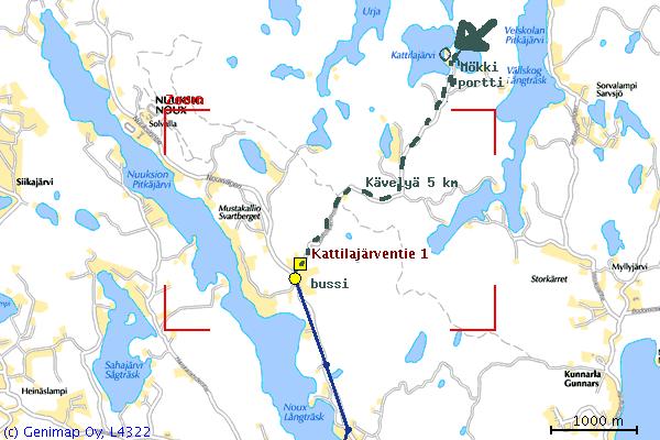 OYS - Ohje Kattilajärvelle tuloon.